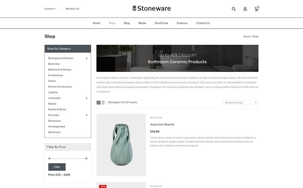 Stoneware - Ceramic Store WooCommerce Theme