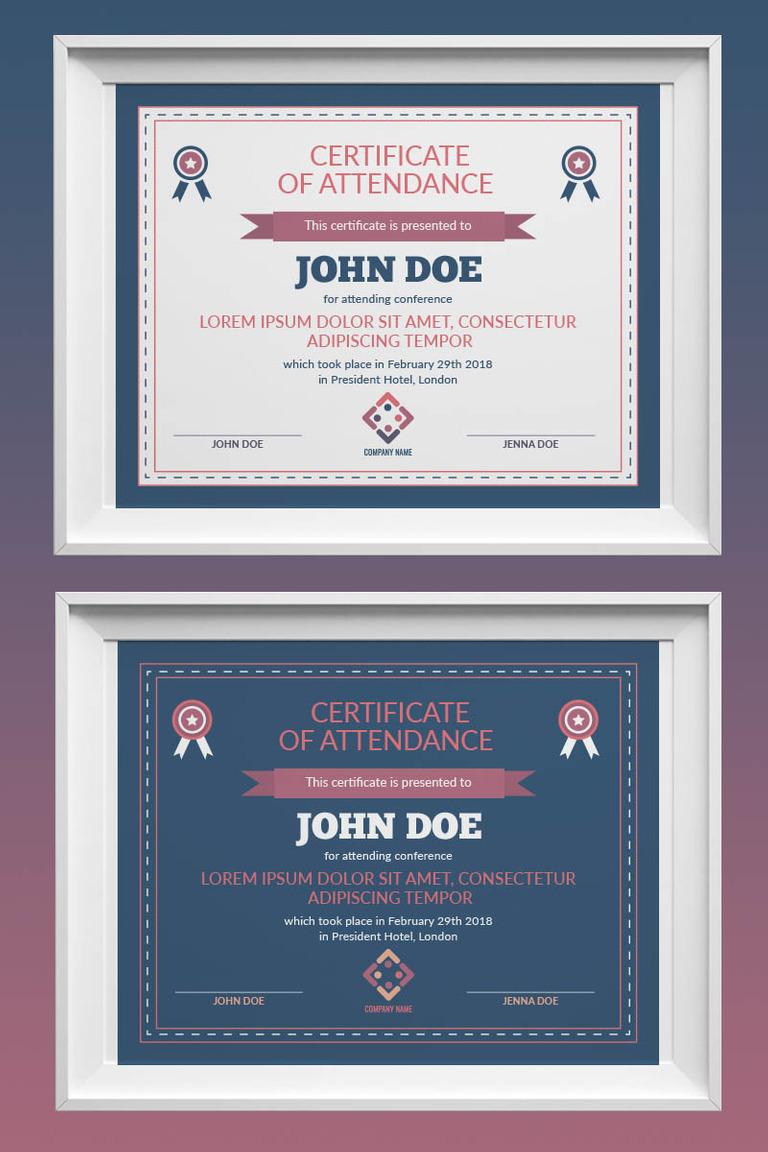 retro certificate template 73435