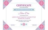 Mosaic Award Certificate Template