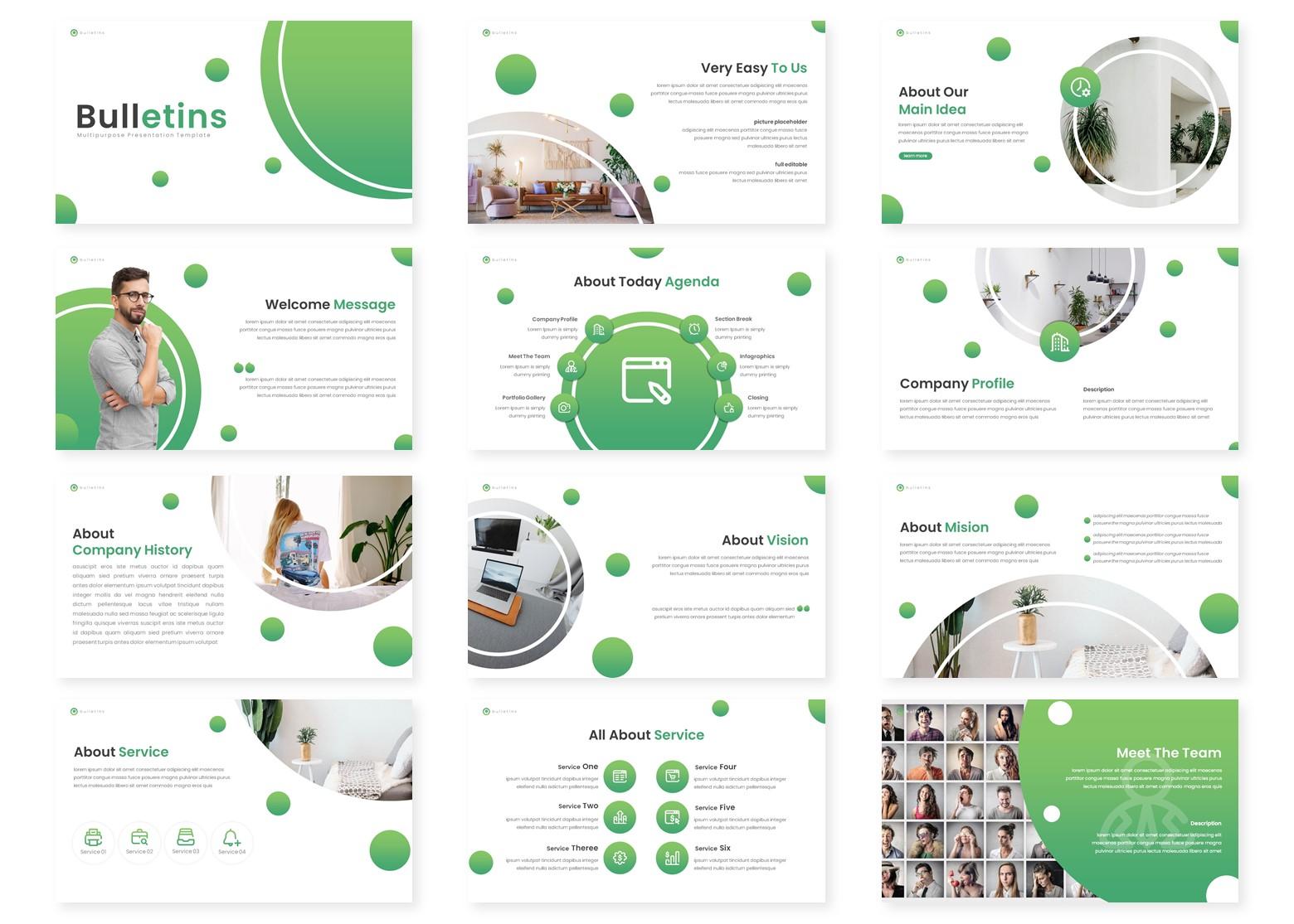 Bulletins - Multipurpose PowerPoint Template