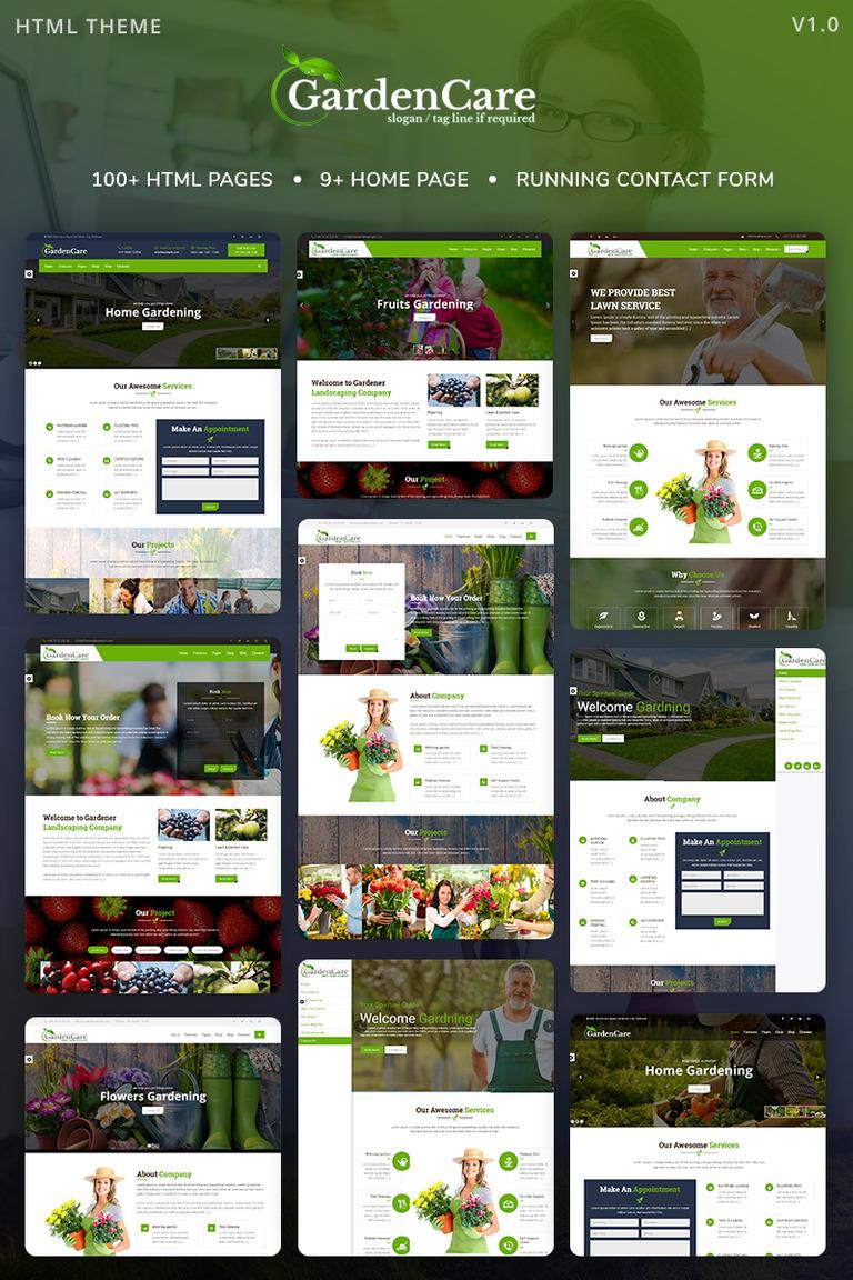 Plantilla Web #68382 para Sitio de Diseño de paisaje
