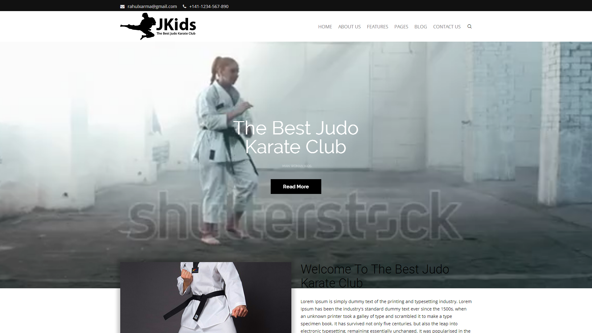 JKids - Judo Karate and Martial Art Html Website Template #67934