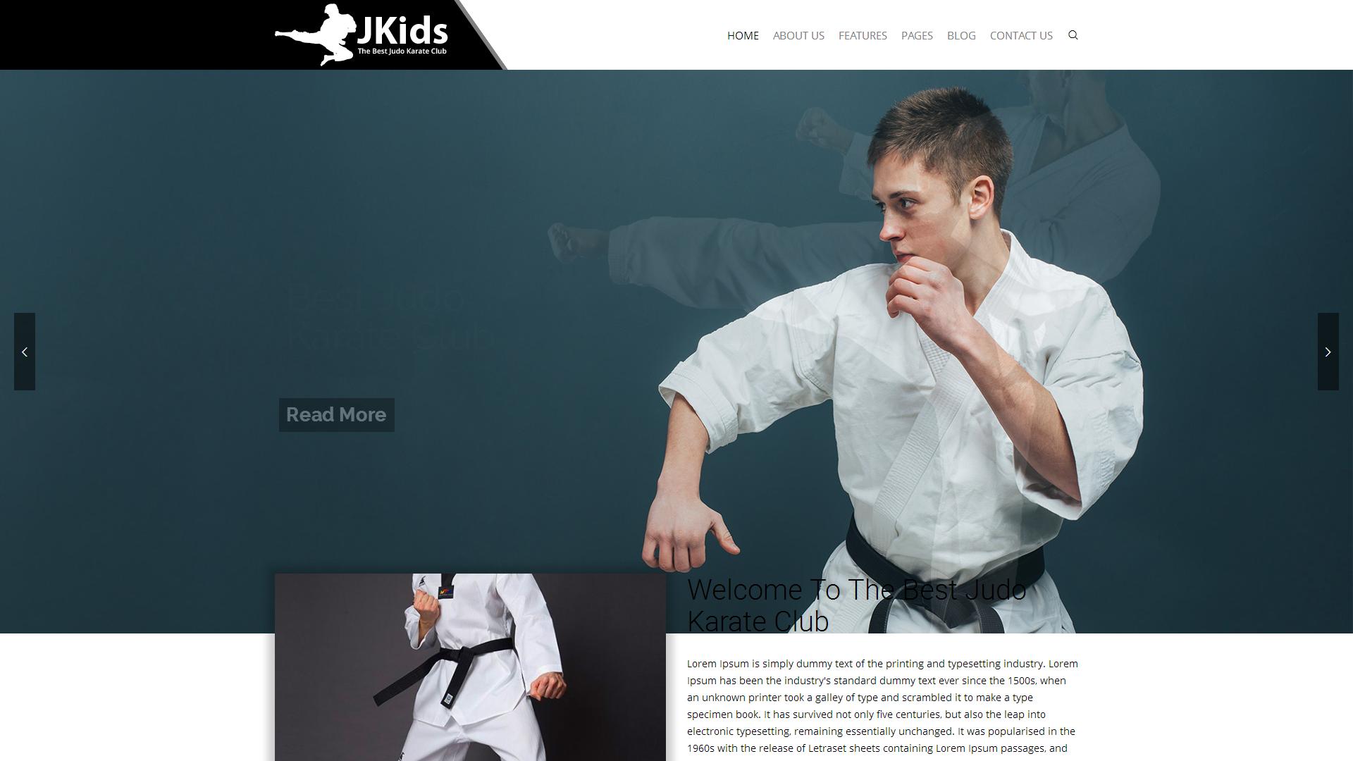 Website Vorlage #67934 für Kampfsport