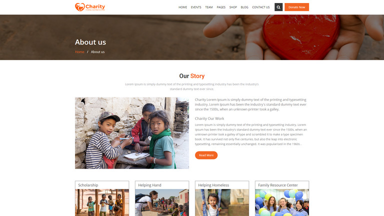 Charity : Crowd Fund, Non Profit Website Template #68962