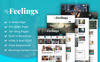Reszponzív myFeeling : Personal Blog Weboldal sablon Nagy méretű képernyőkép