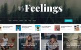 Reszponzív myFeeling : Personal Blog Weboldal sablon