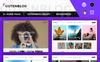 Tema de WordPress para Sitio de Arte y Cultura Captura de Pantalla Grande