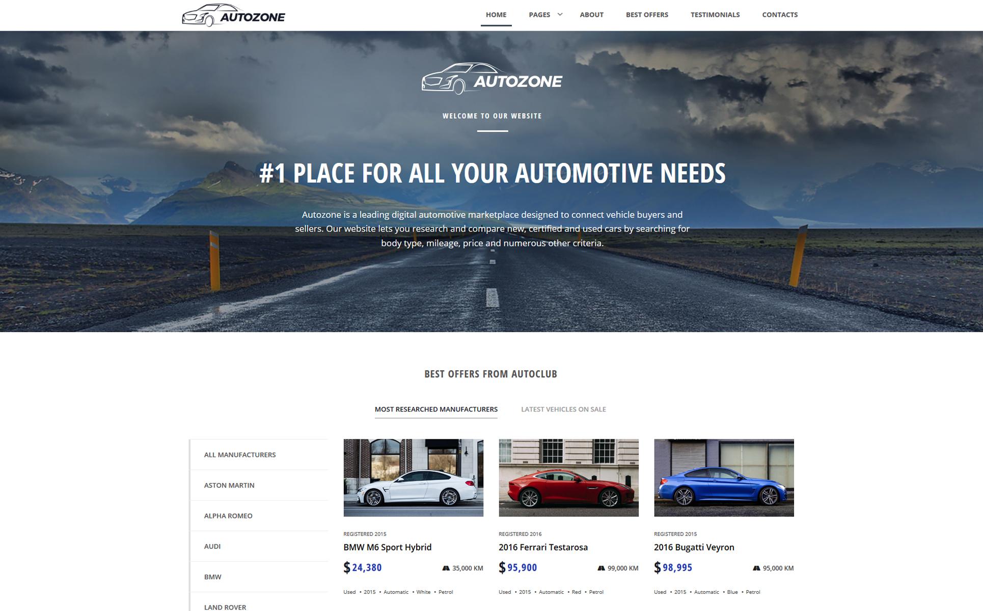 Plantilla Web #68156 para Sitio de Concesionarios de coches