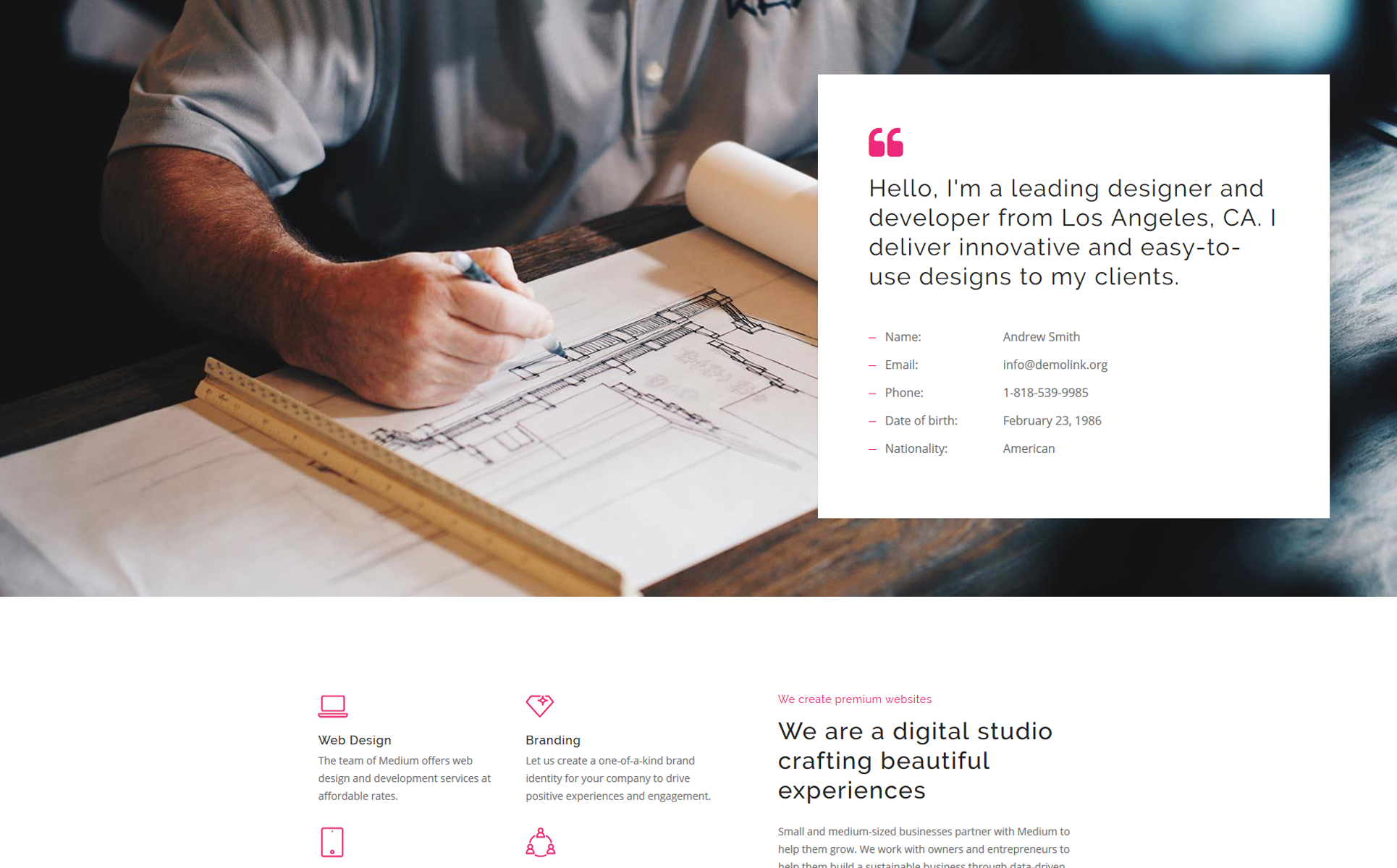 Web Agency Landing Page HTML template