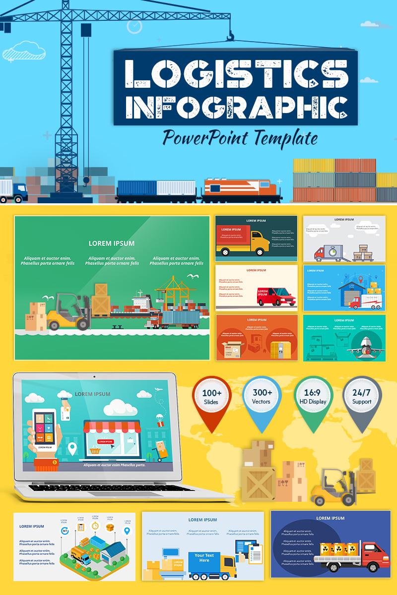 logistics infographic set powerpoint template 71324
