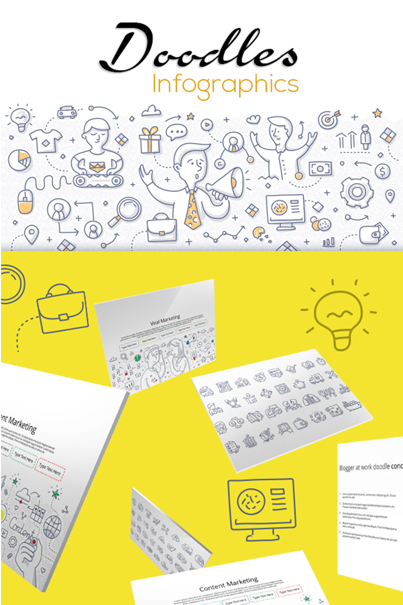 Doodle Infographic Set 1 PowerPoint Template #71423