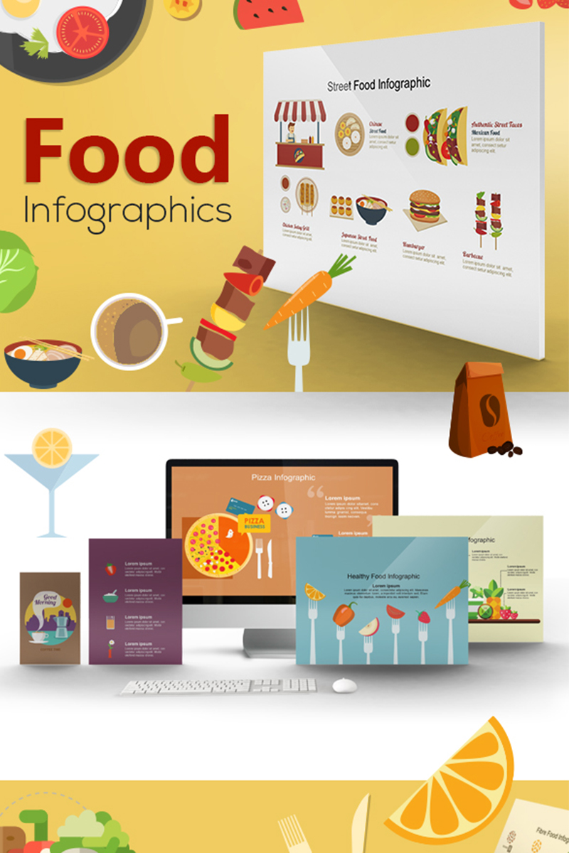 Mega Food Powerpoint Template 71484
