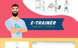 Szablon PowerPoint E-Trainer #71887