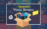 "Modello PowerPoint #74426 ""Visual Business Set 3"""