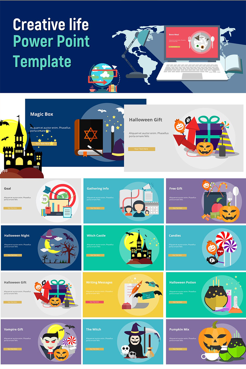 4bd3f2c96f6 Creative Life - Infographic PowerPoint Template  75233