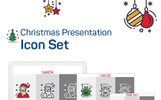 Christmas Presentation PowerPoint Iconset Şablon