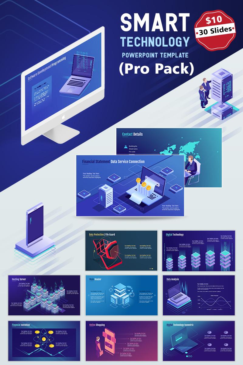 smart tech powerpoint template 75698