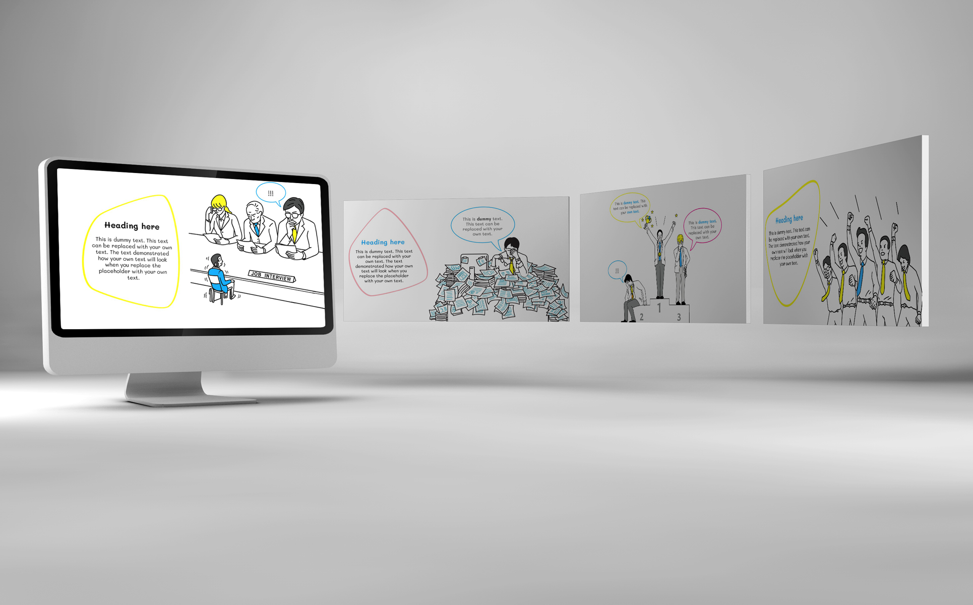 Office Doodle Powerpoint Template 75928