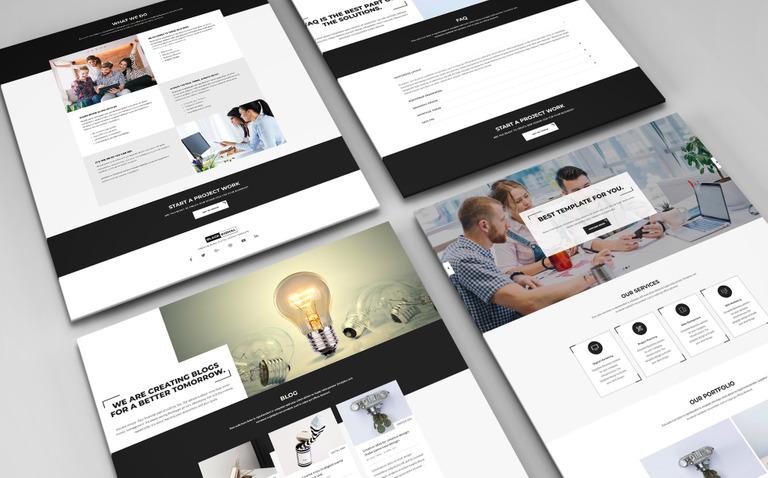 Website Vorlage #68525 für Web Design