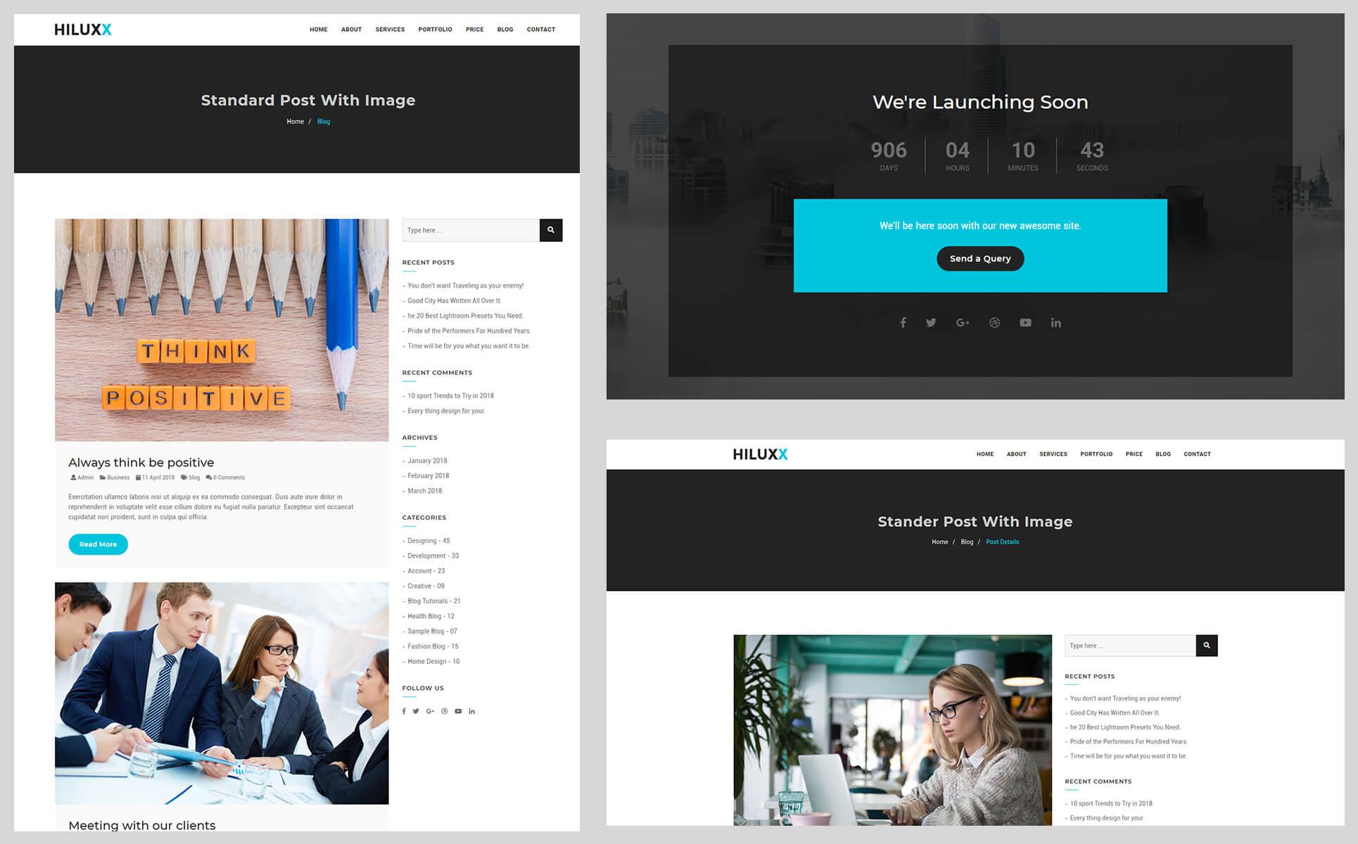 Plantilla para Página de Aterrizaje #70694 para Sitio de Diseño Web