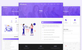 """Amava - Startup Agency and SasS Business"" modèle web adaptatif"
