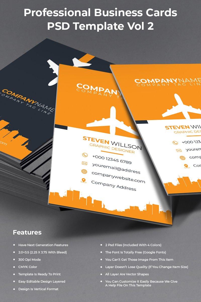Professional business cards psd template 73615 professional business cards psd template fbccfo Image collections