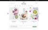 Plantilla PSD para Sitio de Comida y Restaurante Captura de Pantalla Grande