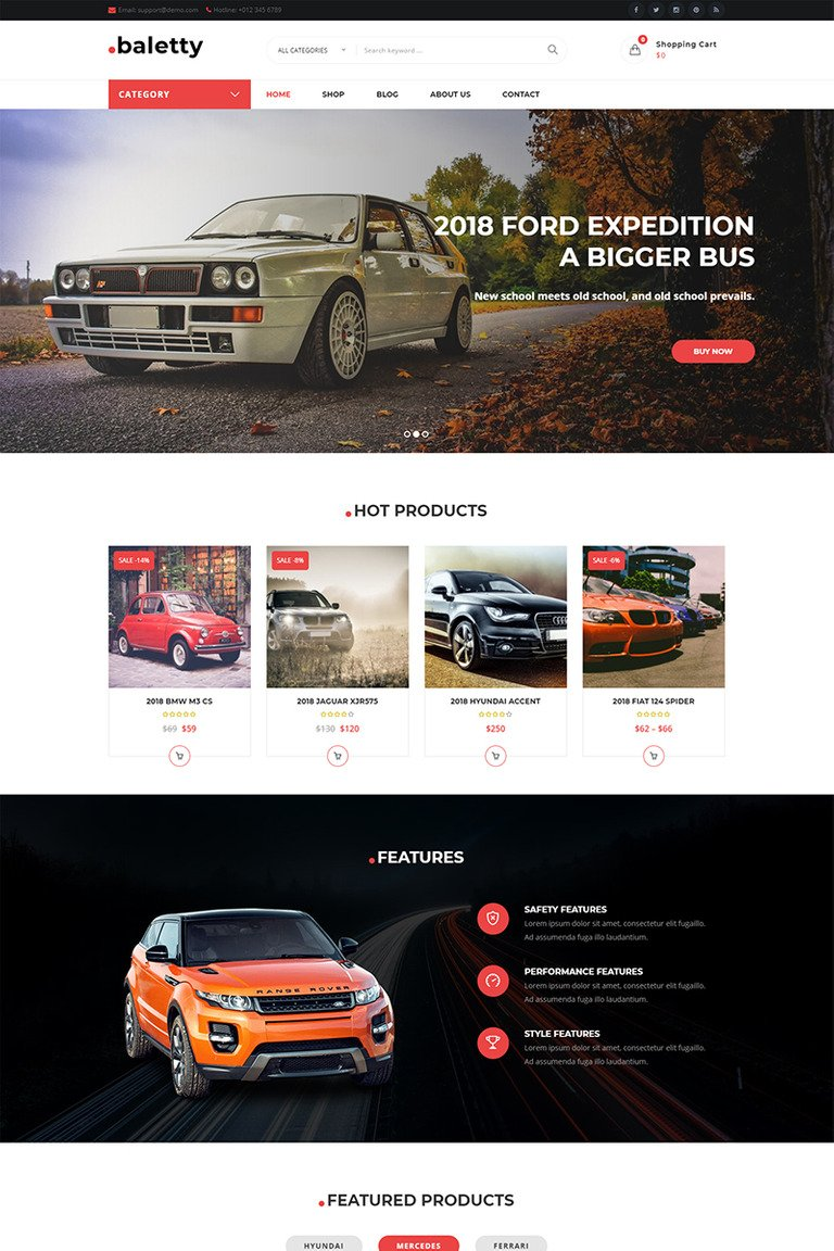 Baletty – Responsive WooCommerce Theme