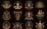 Pirate Grunge Logo Illustration