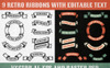 Authentic Retro Ribbons Illustration Big Screenshot