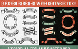 Authentic Retro Ribbons Illustration