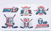 Ilustracja Hockey Emblem Retro Bundle #78367 New Screenshots BIG