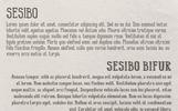 Sesibo Betűtípus