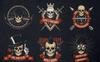 Skull Logo Set on Dark Illustration Big Screenshot
