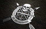 Skull Logo Set on Dark Illustration