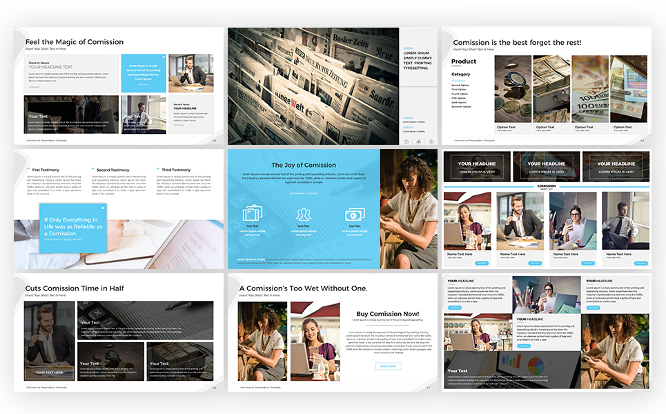 Commercial Presentation Powerpoint Template 68302