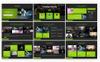 Sporty Fitness PowerPoint Template Big Screenshot