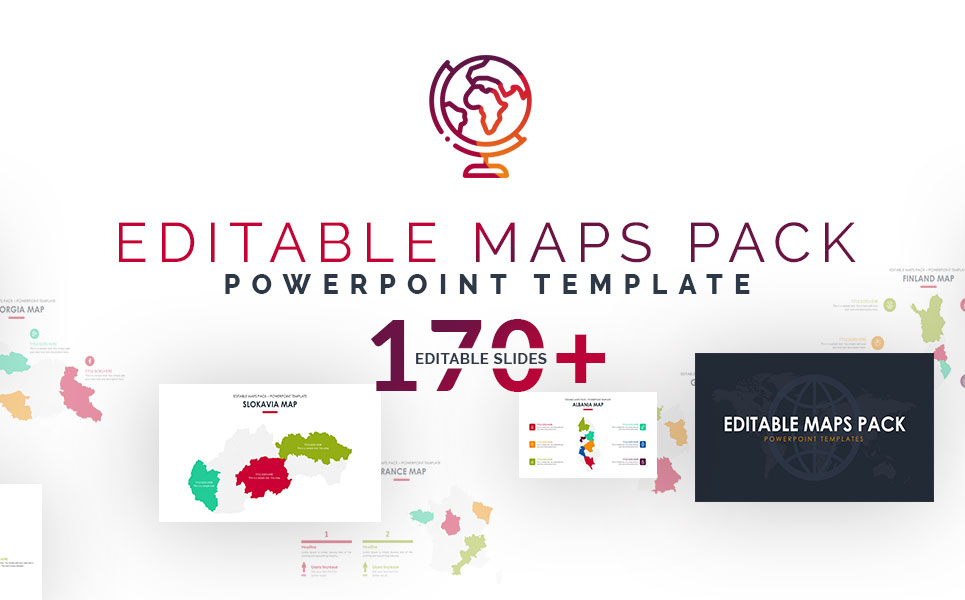 editable maps pack powerpoint template 70293