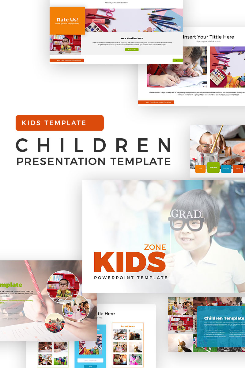children powerpoint template 70604