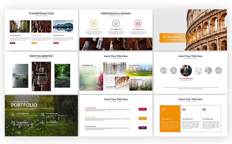 portfolio presentation powerpoint template 71187