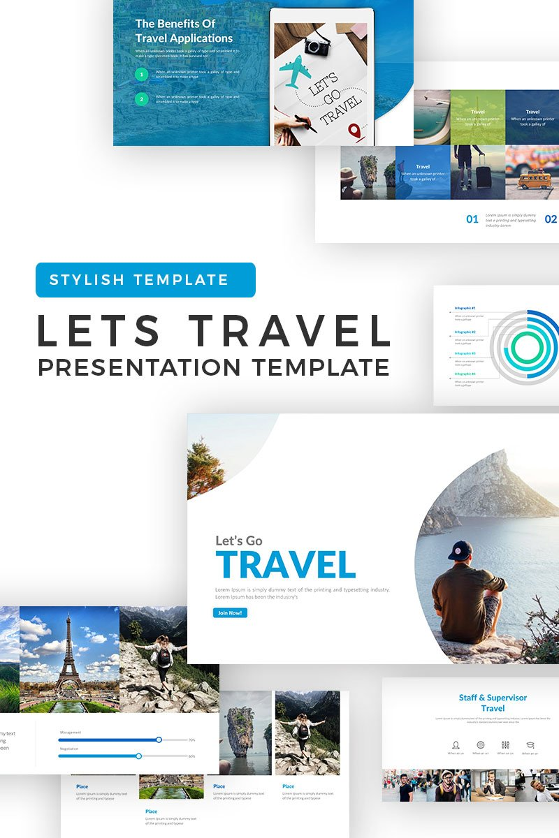 Lets Travel Powerpoint Template 71262