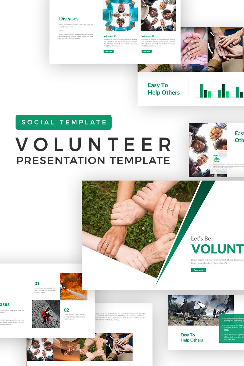 Volunteer presentation powerpoint template 71493 toneelgroepblik Choice Image