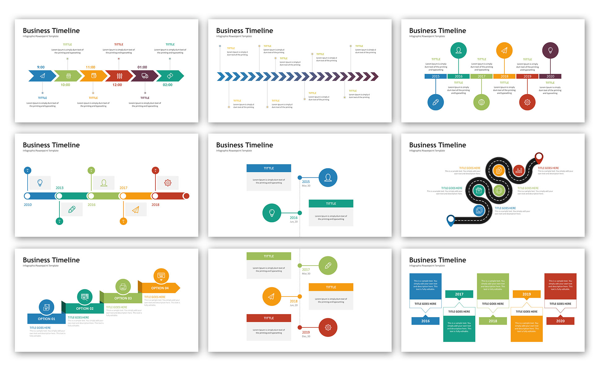 Timeline - Infographic Presentation PowerPoint Template #72072