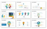 Lamp - Infographic Presentation PowerPoint Template