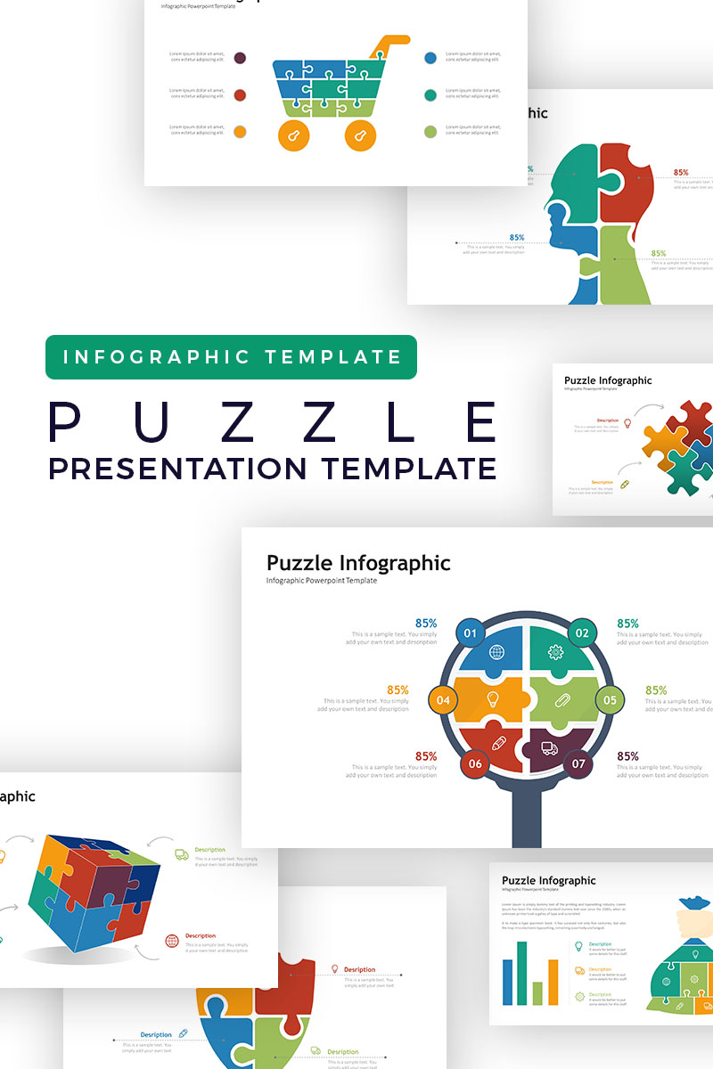 Puzzle Presentation Infographic Powerpoint Template 73641