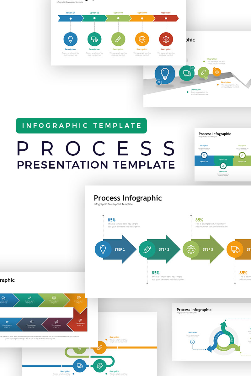 Process Presentation Infographic Point Template