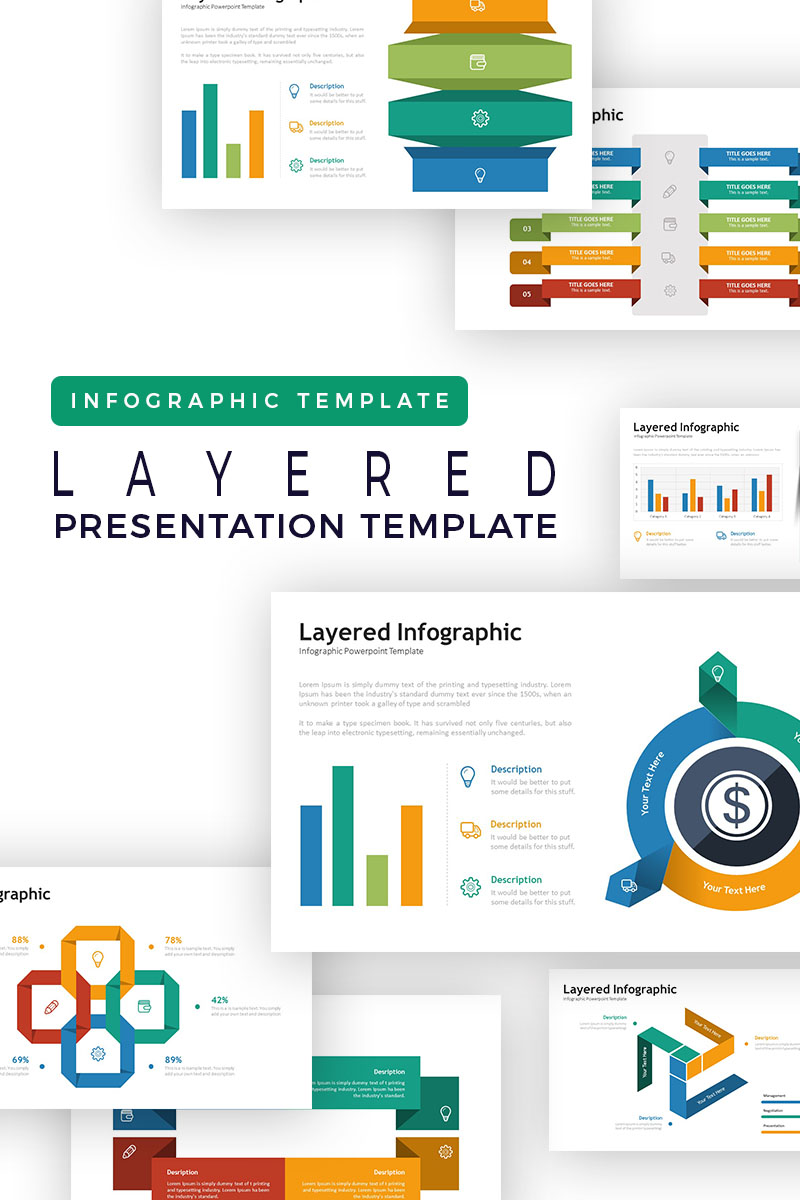 Layered Presentation - Infographic PowerPoint Template #73792
