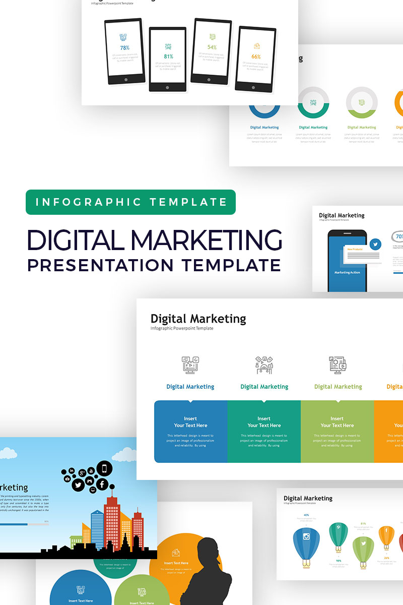 Digital Marketing Presentation Infographic Powerpoint Template 77412