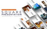 Square Placeholder Presentation - Infographic PowerPoint Template