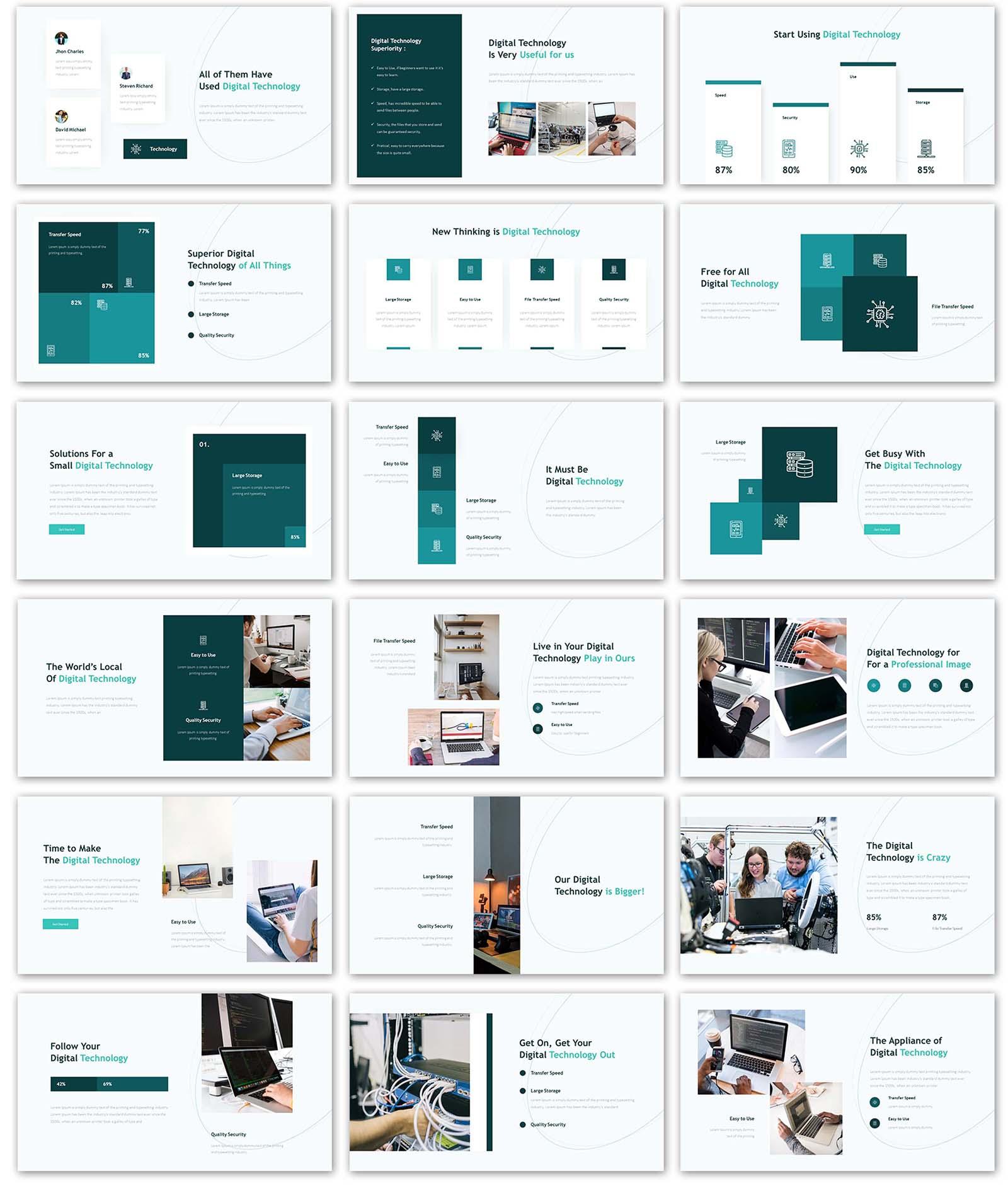 Technology Presentation PowerPoint Template